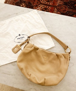 PRADA Hobo Leather Bag