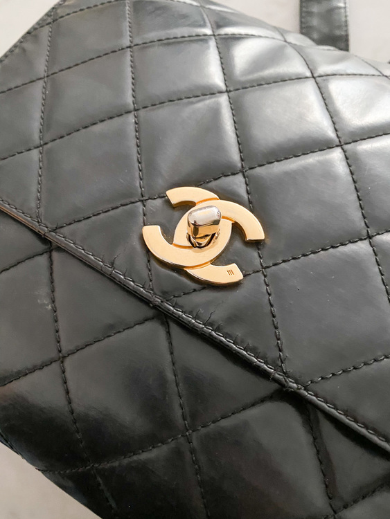 CHANEL Vintage Backpack Black