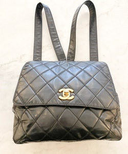 CHANEL Vintage Backpack Black