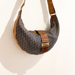 DIOR Halfmoon Oblique Vintage Bag