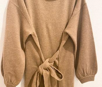 ARKET Knot-Detail Knitted Wool Dress (medium)