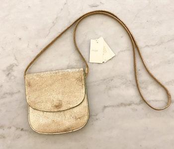 MAJE Gold Crossbody Bag