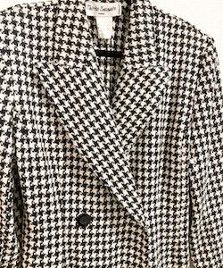 THÉRÈSE BAUMAIRE PARIS Vintage Houndstooth Coat (38)