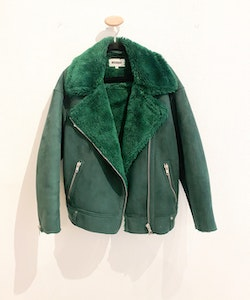 WEEKDAY Green Biker Jacket (XS)