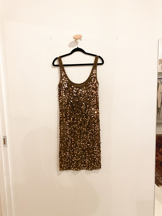 BY MALENE BIRGER Sequin Bronze Dress (XS)