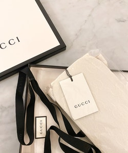 GUCCI Off White GG Tights Logo (L)