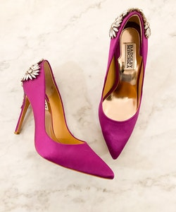 BADGLEY MISCHKA Satin Heels (38)