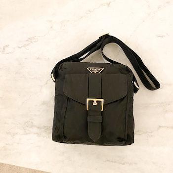 PRADA Small Messenger Black Nylon Bag