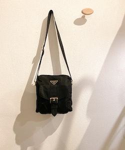 PRADA Small Messenger Black Nylon Bag