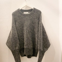 CATHRINE HAMMEL Mohair rounded sweater (M)