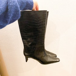 HM Premium Collection Croco Leather Boots (41)