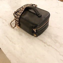 CHANEL Leather Vanity Bag