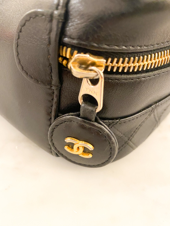 CHANEL Leather Vanity Bag