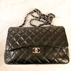 CHANEL Classic Singel Flap Jumbo Bag Black