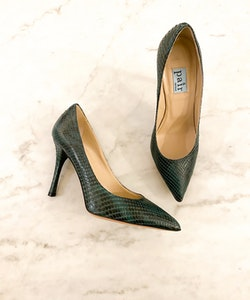 a pair Green Snake Pumps (36)