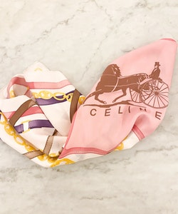 CELINE Horse Carrier Silk Scarf