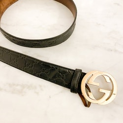 GUCCI GG Leather Belt 100cm