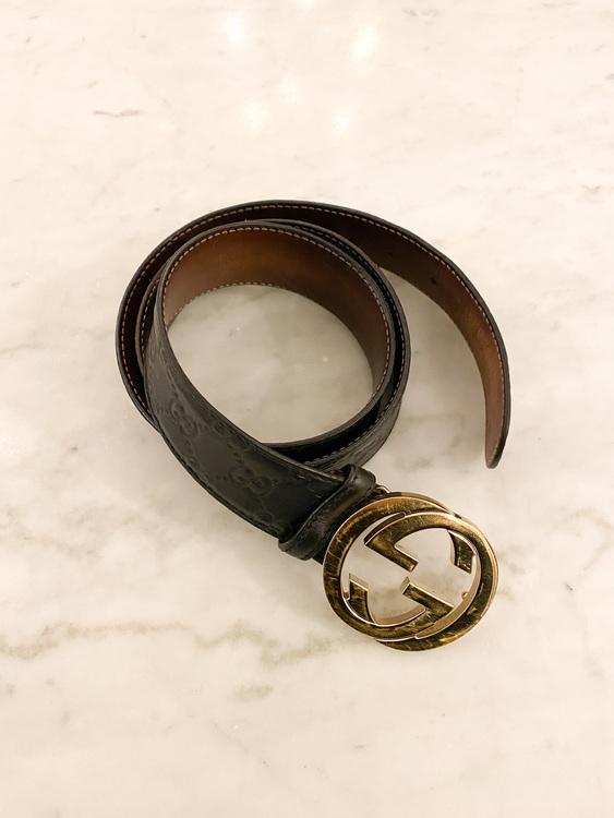 GUCCI GG Leather Belt 100cm