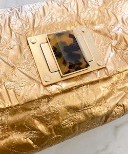 LOUIS VUITTON Limited Edition Gold Monogram Jacquard Altair Clutch Bag