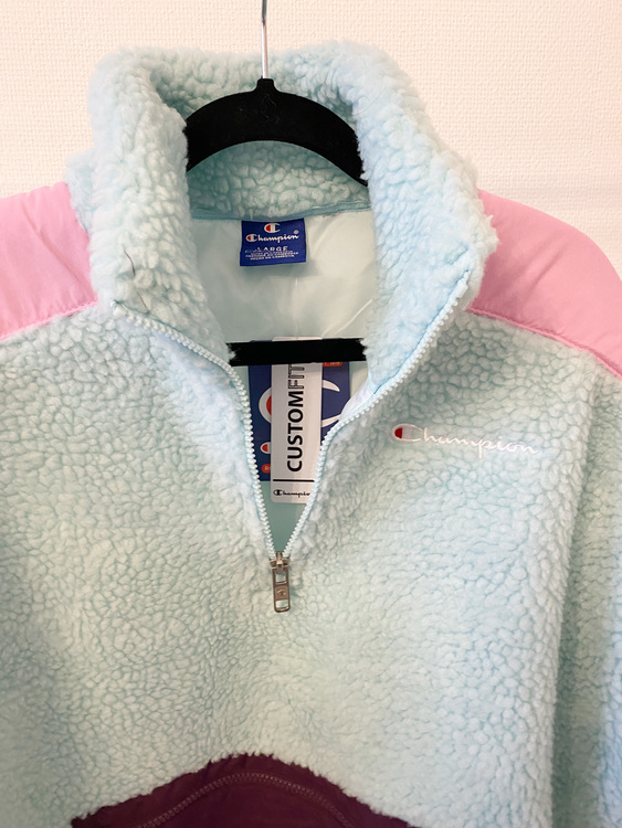 CHAMPION Mini Logo Sherpa Fleece Jacket (L)