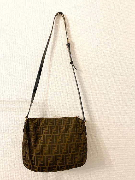 FENDI Zucca Monogram Crossbody Bag