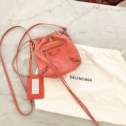 BALENCIAGA Small Pink Crossbody Bag