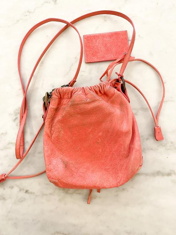BALENCIAGA Small Pink Crossbody Bag