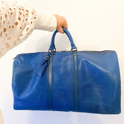 LOUIS VUITTON Keepall Epi Blue 55