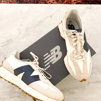 NEW BALANCE White/Beige Sneakers (39)