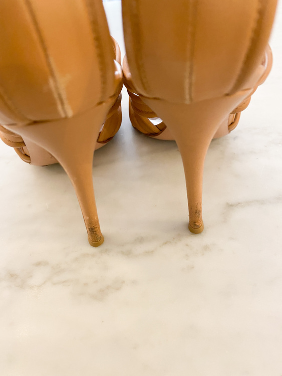 GIANVITO ROSSI Tan Leather Heels (37)