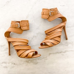 GIANVITO ROSSI Tan Leather Heels (37)