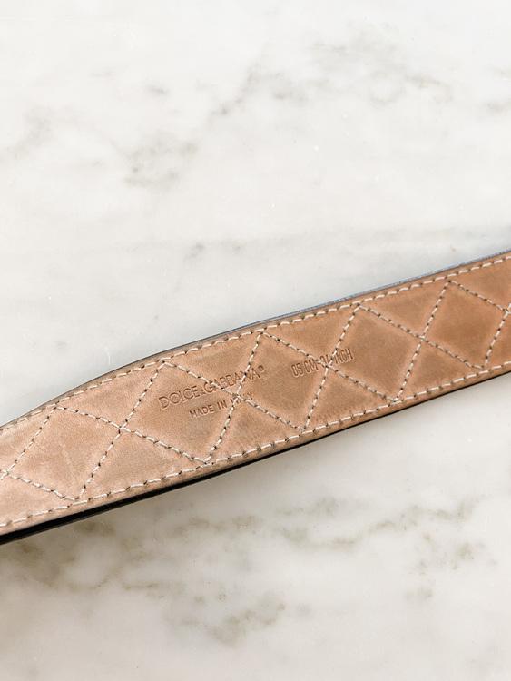 DOLCE & GABBANA DG Patent Belt (85cm)