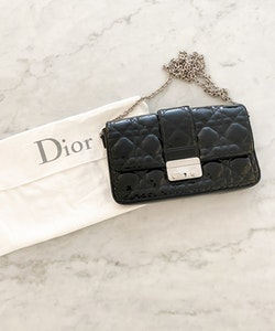 DIOR Miss Dior Cannage Patent Leather Bag