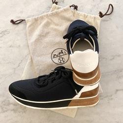 HERMÈS Miles Black Sneakers (39)