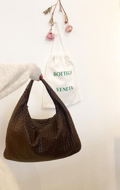 BOTTEGA VENETA Brown Large Veneta Bag