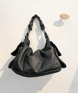 BOTTEGA VENETA Black Leather Nappa Bag