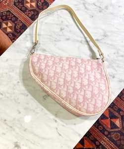CHRISTIAN DIOR Saddle bag Mini Vintage Pink