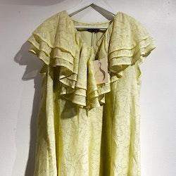 STINE GOYA Claire Metallic Chiffon Dress (XL)