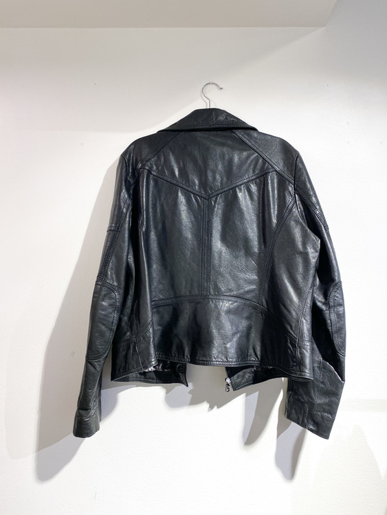 GUESS Black Leather Jacket (XL)