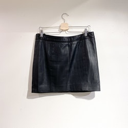 STAND Leather Skirt (40)