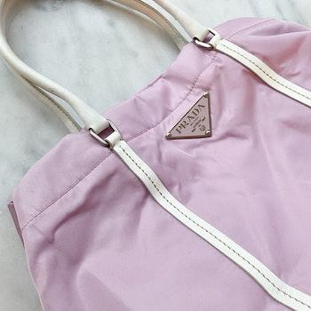 PRADA Tessuto Shopping Pink Nylon Bag