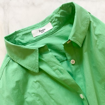 THE FRANKIE SHOP Melody Cotton Shirt Green (OS)