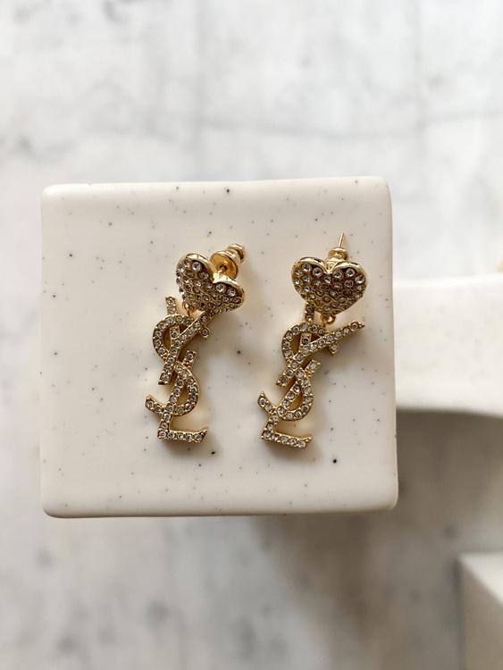 Yves Saint Laurent Heart Earrings