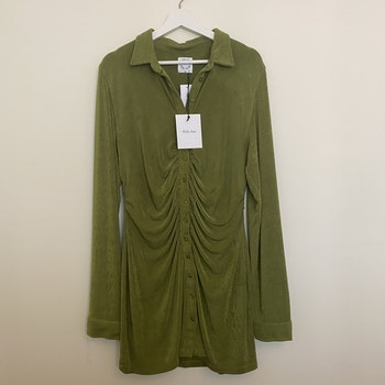 WITH JÉAN Andy Dress Forest Green (XL)