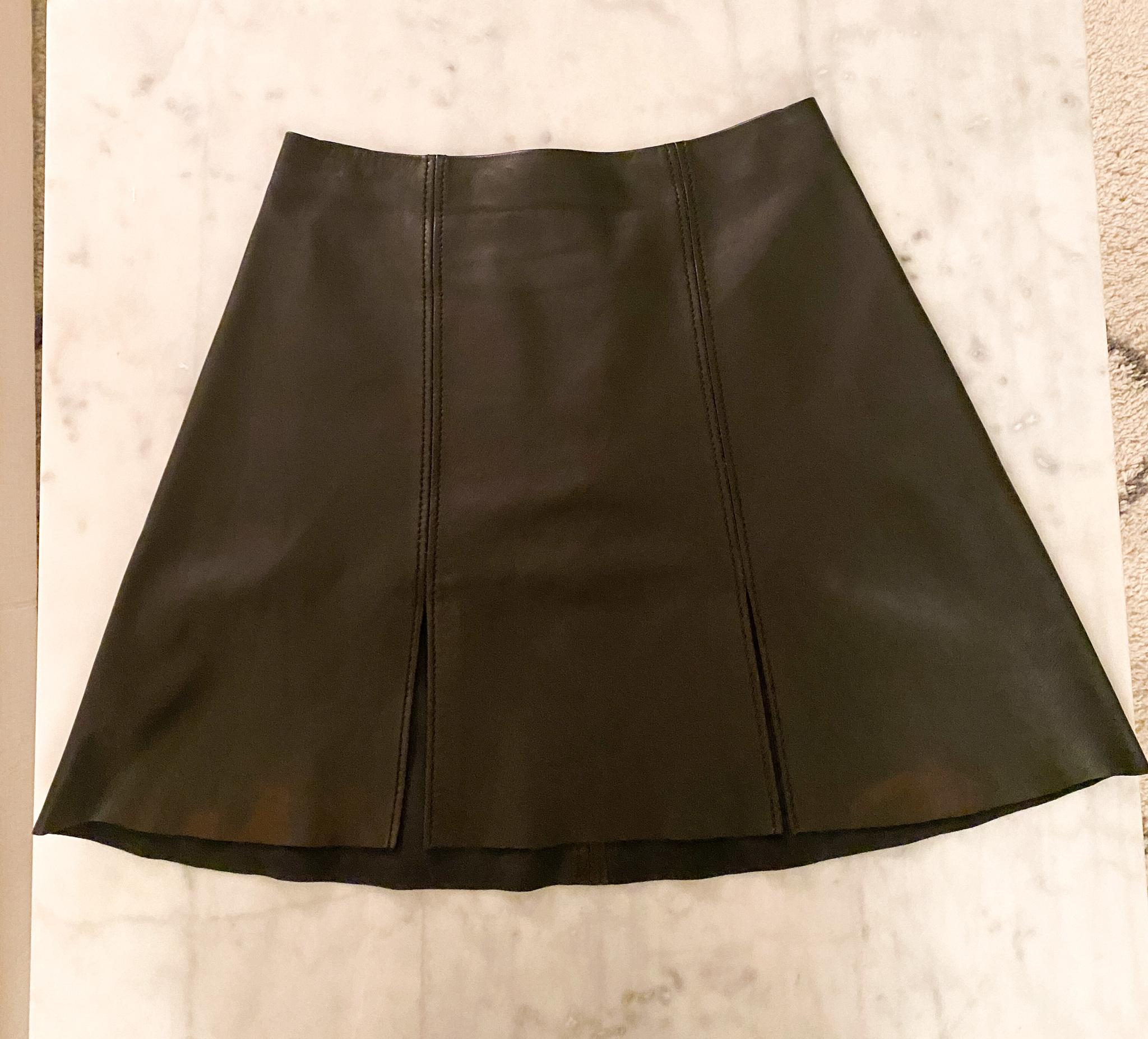 ACNE STUDIOS Leala Leather Skirt (40)