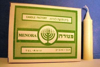 Bordsljus Israel Shabbat Menora Kosher