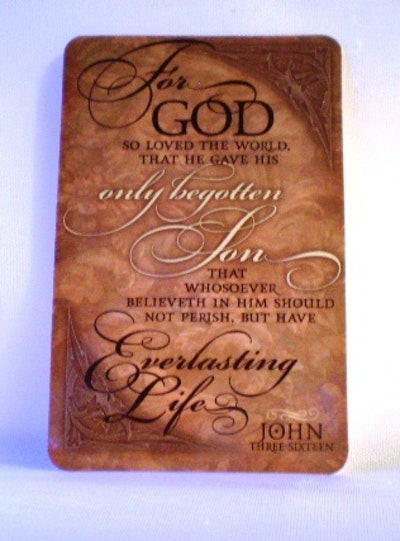 GÅVOKORT  Joh 3:16
