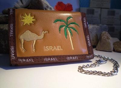 Plånbok i läderlook från  Israel