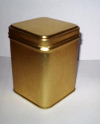 Present-burk, guldfärgad