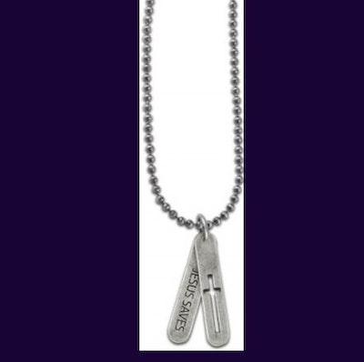 Halsband - Two tabs cross